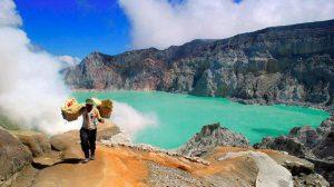 Ijen Crater Banyuwangi, East Java Indonesia