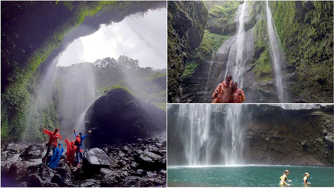 Madakaripura Waterfall near Mount Bromo